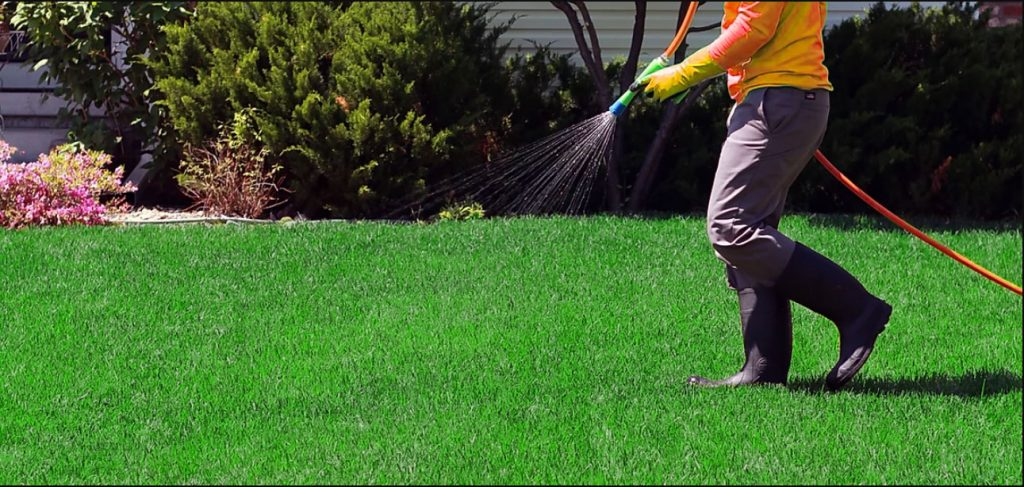 Lawn chemical treatment in Birmingham, AL